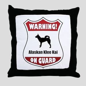 Klee Kai On Guard Throw Pillow