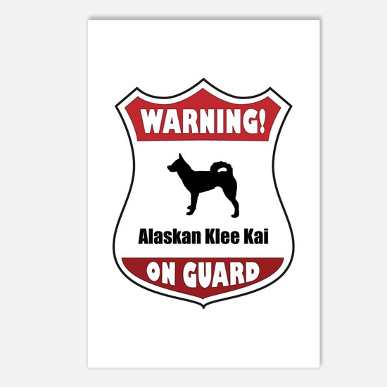 Klee Kai On Guard Postcards (Package of 8)