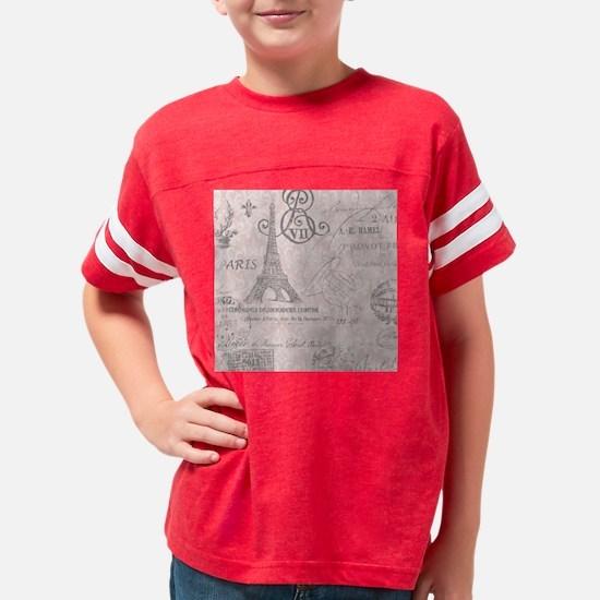vintage paris eiffel tower damask T-Shirt