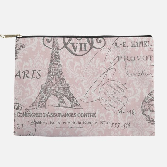 pink paris eiffel tower Makeup Bag