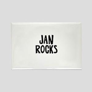 Jan Rocks Rectangle Magnet