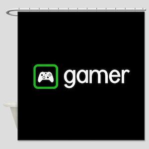 Gamer (Green) Shower Curtain