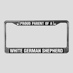 White German Shepherd License Plate Frame