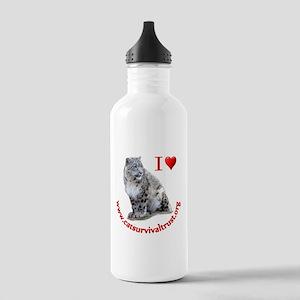I Heart Cat Survival Trust Sports Water Bottle