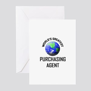 World's Greatest PURCHASING AGENT Greeting Cards (