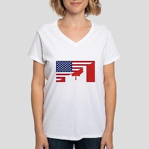 American Canadian Flag T-Shirt