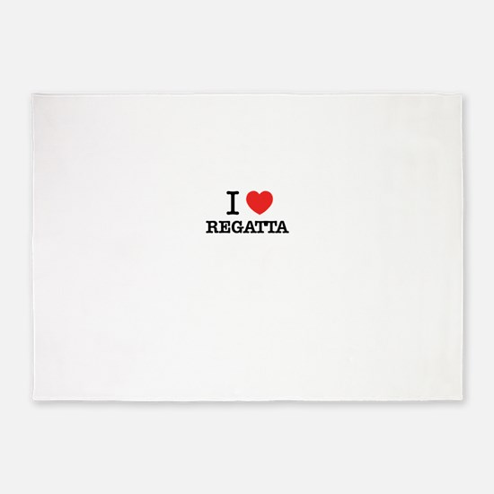 I Love REGATTA 5'x7'Area Rug