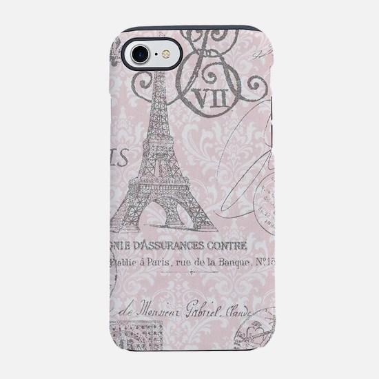 pink paris eiffel tower iPhone 8/7 Tough Case