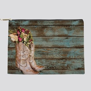cowboy boots barn wood Makeup Bag