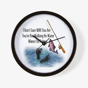 Fishing Here! Wall Clock