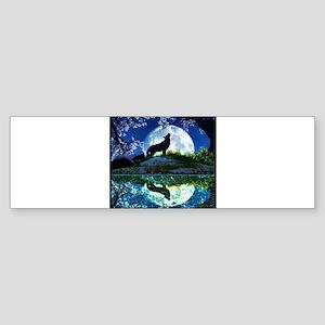 Coyote Moon Bumper Sticker