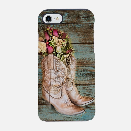 cowboy boots barn wood iPhone 8/7 Tough Case