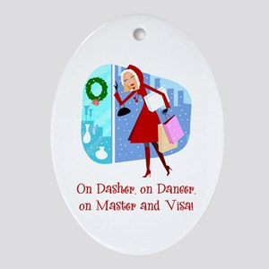 Master and Visa Oval Ornament