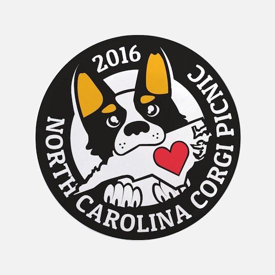 2016 NC Corgi Picnic logo-black border Button