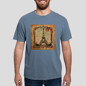 vintage scripts postage paris eiffel tower T-Shirt
