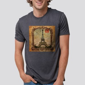 vintage scripts postage paris eiffel tower T-Shirt