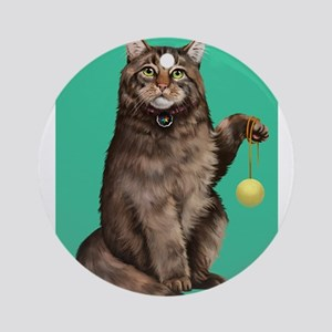 Maine Coon Round Ornament