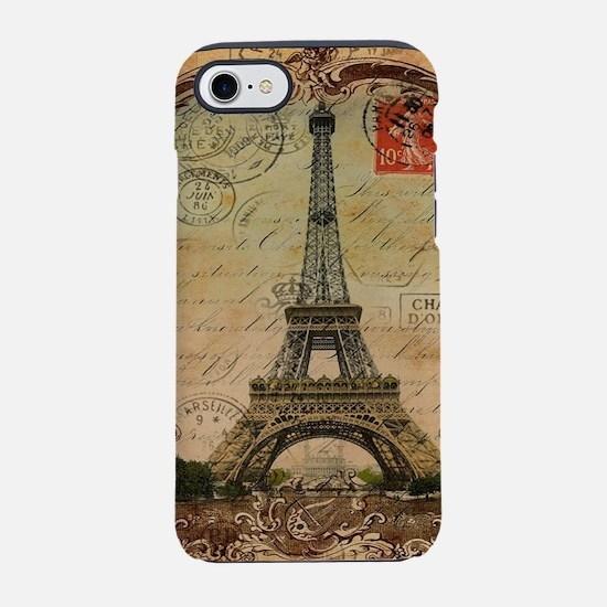 vintage paris eiffel tower iPhone 8/7 Tough Case