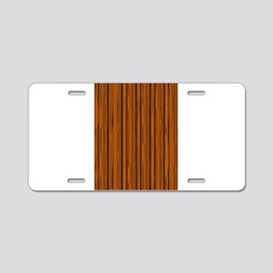 Light Brown Fence Fence Aluminum License Plate