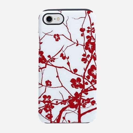 zen red plum flower iPhone 8/7 Tough Case