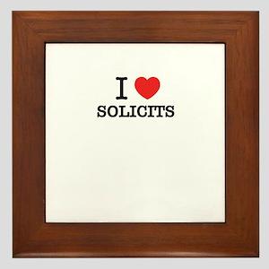 I Love SOLICITS Framed Tile