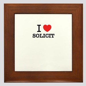 I Love SOLICIT Framed Tile