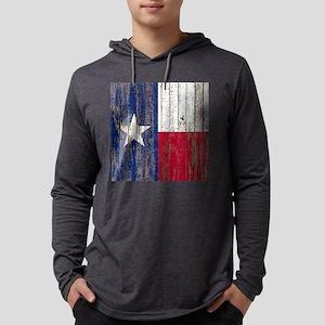 barn wood Texas Flag Long Sleeve T-Shirt