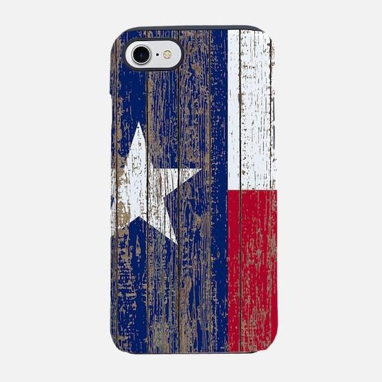 barn wood Texas Flag iPhone 8/7 Tough Case
