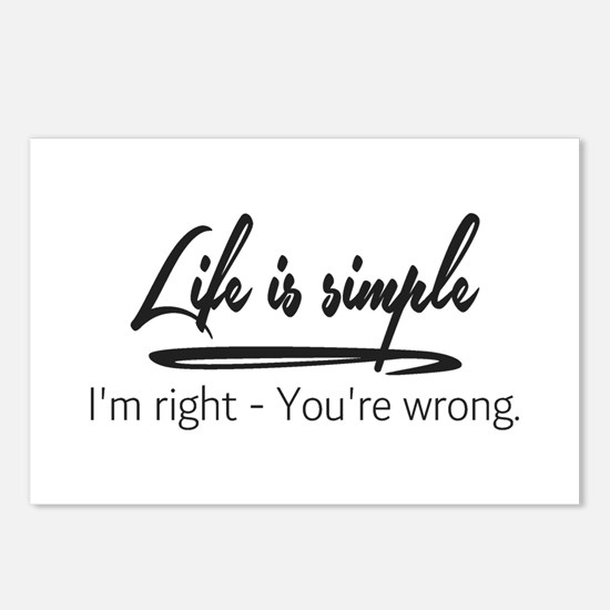 Life is Simple Postcards (Package of 8)