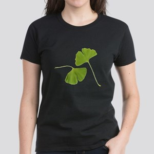 Ginkgo Biloba Leaves Women's Dark T-Shirt