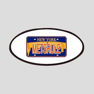 Mets Rule Orange Licence Plate Patch