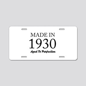 Made In 1930 Aluminum License Plate