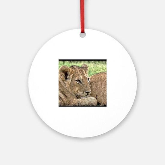 Unique Lion cub Round Ornament