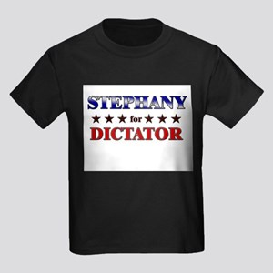 STEPHANY for dictator Kids Dark T-Shirt