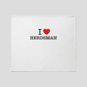 I Love HERDSMAN Throw Blanket