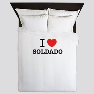 I Love SOLDADO Queen Duvet