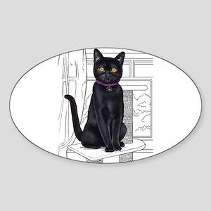 Bombay Cat with line drawn Background Sticker