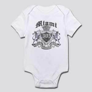 """MIAMI 305 LION CREST"" Infant Bodysuit"