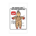 Inclusion Voodoo Doll Rectangle Sticker