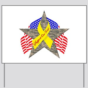 Support Our Troops Star Yard Sign