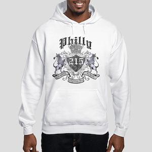 """PHILLY 215 LION CREST"" Hooded Sweatshirt"