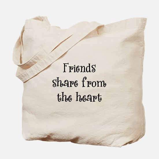 Friends Share Tote Bag