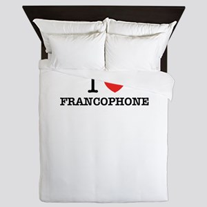 I Love FRANCOPHONE Queen Duvet