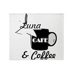 Luna Cafe & Coffee - Luna City, Texas Throw Blanke