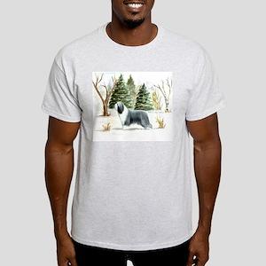 BeardieSnowScene T-Shirt