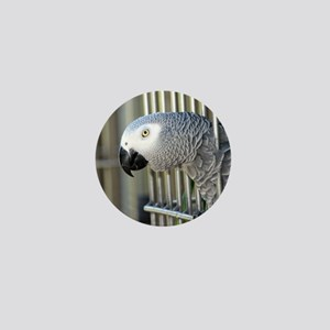 Helaine's African Gray Mini Button