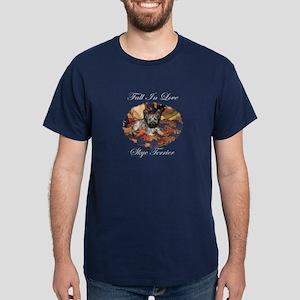 Skye Terrier - Fall In Love Dark T-Shirt