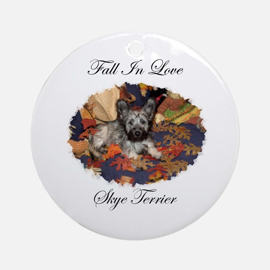 Skye Terrier - Fall In Love Ornament (Round)