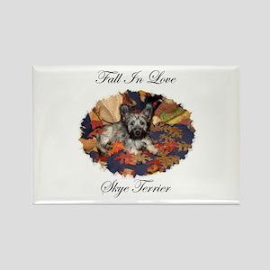 Skye Terrier - Fall In Love Rectangle Magnet