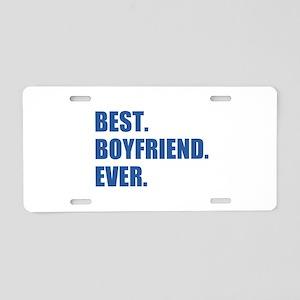 Dark Blue Best Boyfriend Ever Aluminum License Pla
